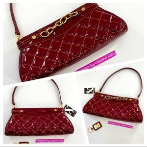 MAXX New York Burgundy Purse Quilted shoulder bag